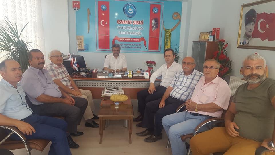 MHP Osmaniye Merkez İlçe Yönetimi Sendikamızı Ziyaret Etti