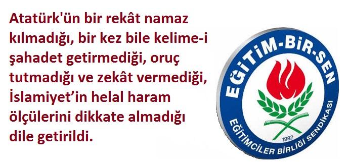 Eğitim Bir Sen Dergisinde Çirkin Atatürk Yorumu